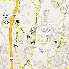 Location Maps, Charlotte, Denver, North Carolina, NC on