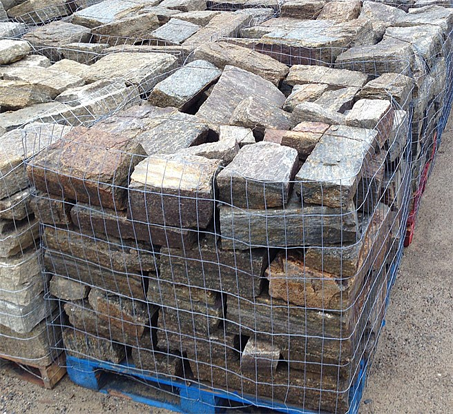 Stone flagstone veneer boulders for paving walls and for How thick is granite